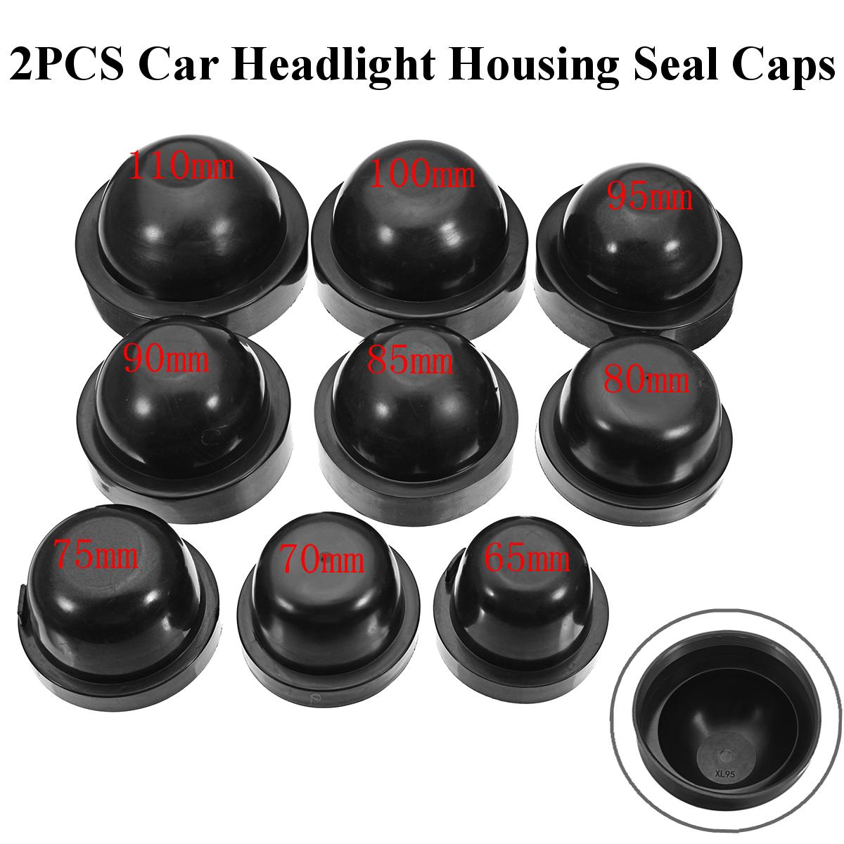 2pcs 95mm Rubber Housing Seal Cap Anti Dust Cover For Car Bulb HID Headlight