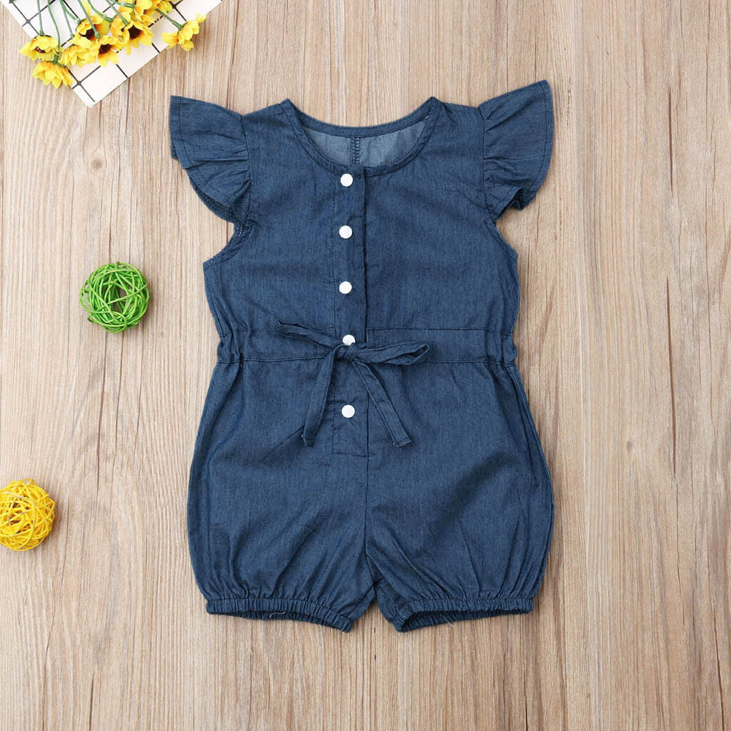 Heartbeat Bycicle Printed Newborn Toddler Baby Short Sleeve Jumpsuits Playsuit Outfits