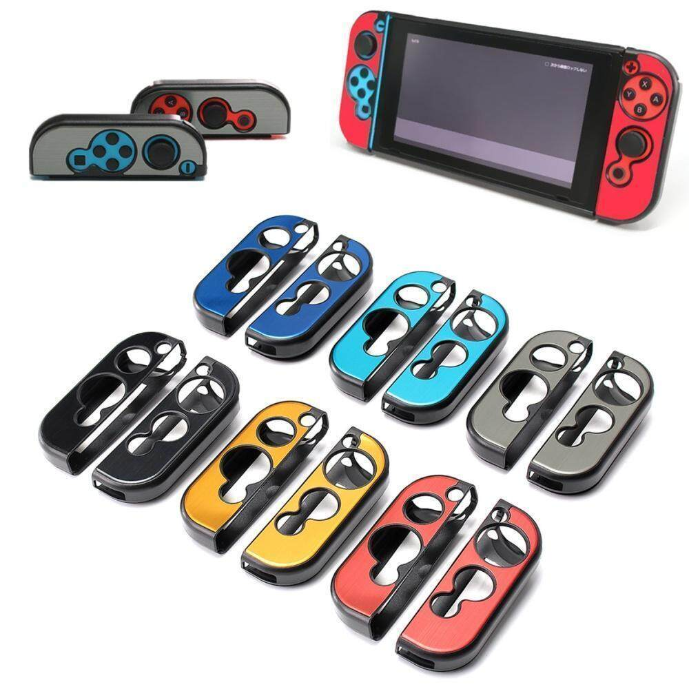 1 Pair Aluminum Case Cover Protector For Nintendo Switch Grip Joy-Con  Controller gold
