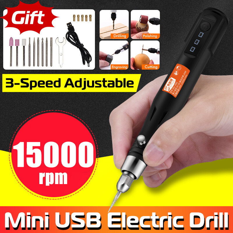 USB Electric Grinding Set Rotary Drill Grinder Tool Engraving Kit Grinding Tools Set