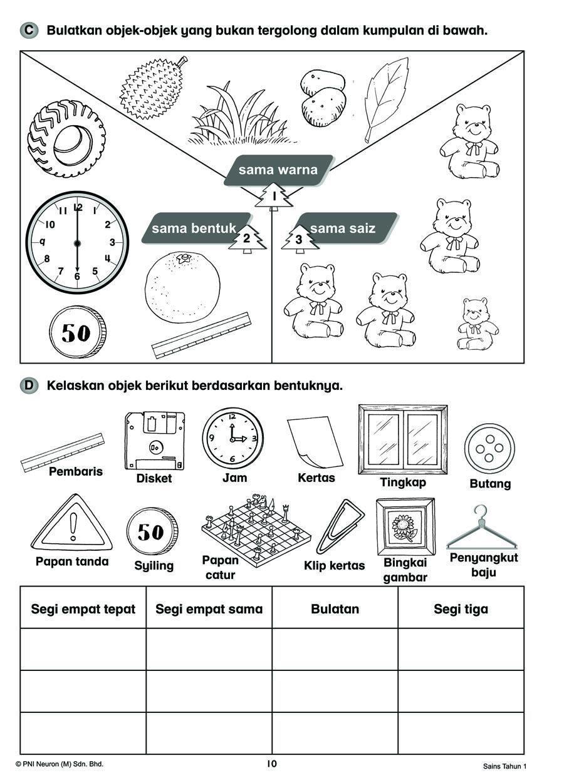 Buku Rampaian Kssr Semakan Sains Tahun 1 Latihan Topikal Nota Lazada