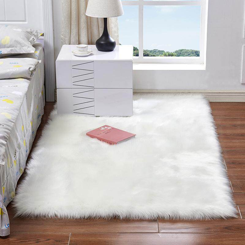 Thick Faux Sheepskin Area Rug Carpet