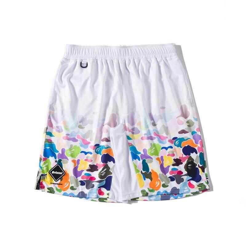 Men/'s A Bathing Ape Bape Sports Casual Loose Shorts Black Camo Short Pants Cool