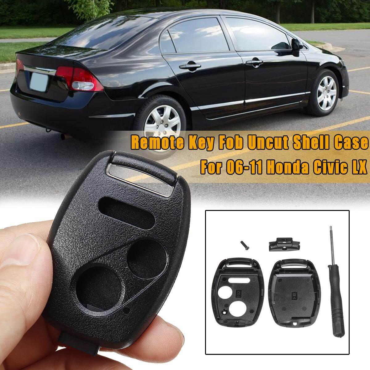 2+Panic Remote Key Fob Case Shell Repair Kit For 06-11 Honda Civic LX No  Blade