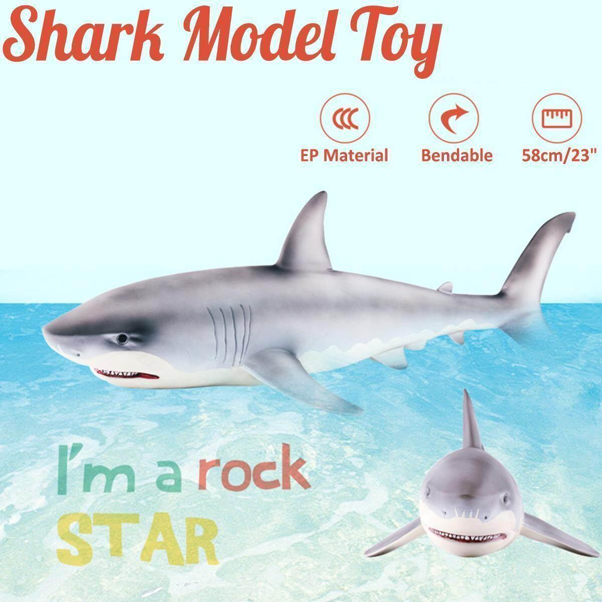 Big Megalodon Great White Shark Simulation Animal Figure Model Toy Xmas Gift