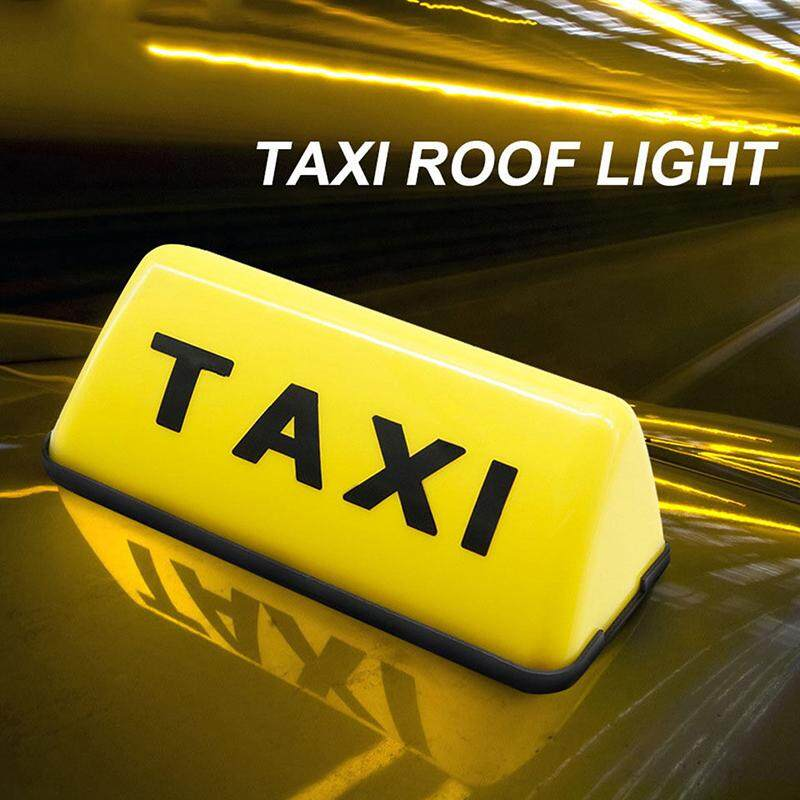 Taxi Sign Cab Roof Top Topper Car Magnetic Sign Lamp 12V LED Light  Waterproof