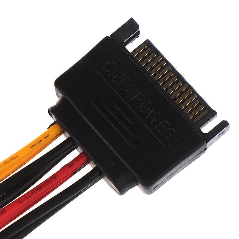 Lot of 15 10 Pin SATA 1 Male to 2 Female SATA Power Splitter Y Cable Durable