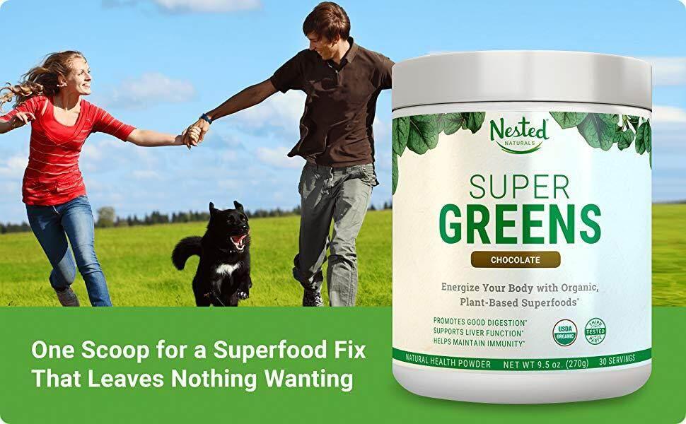 Nested Naturals Chocolate Super Greens Powder Blend