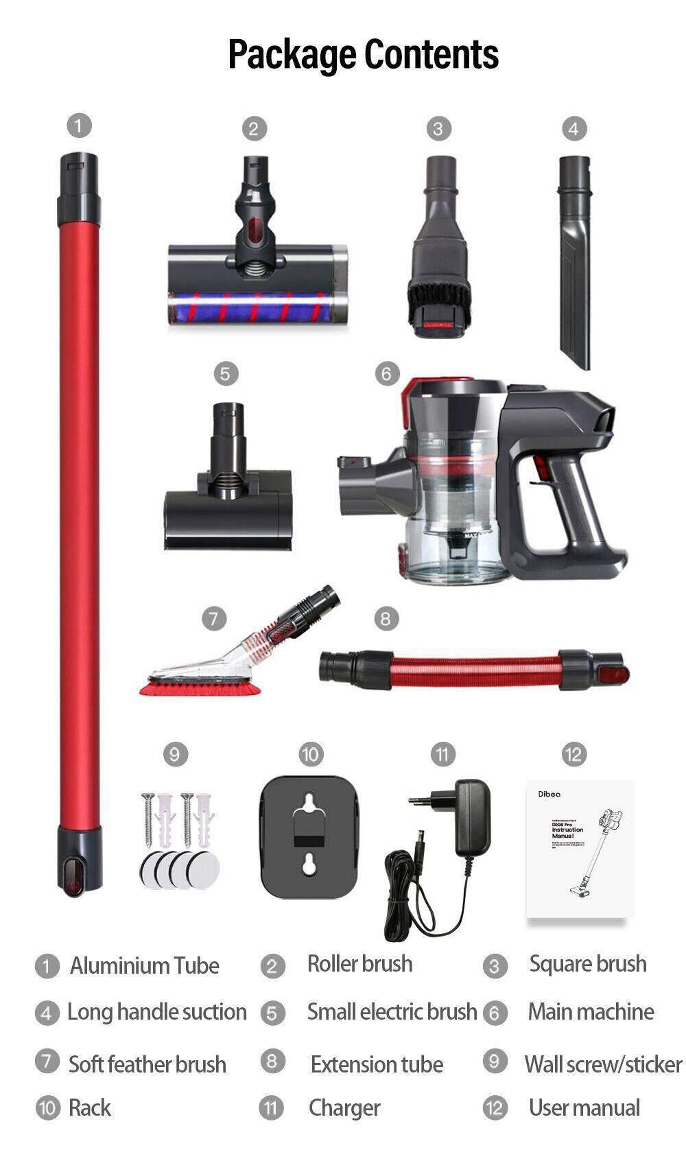 Dibea D008Pro Wireless 2-in-1 Vacuum Cleaner