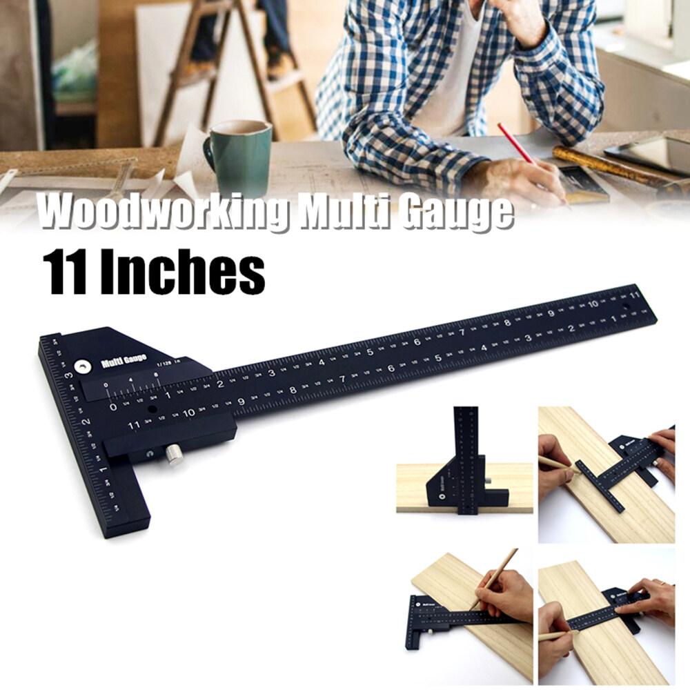 Woodworking Multi DIY Gauge Ruler T-Type Square Ruler 300mm Ultra Precision