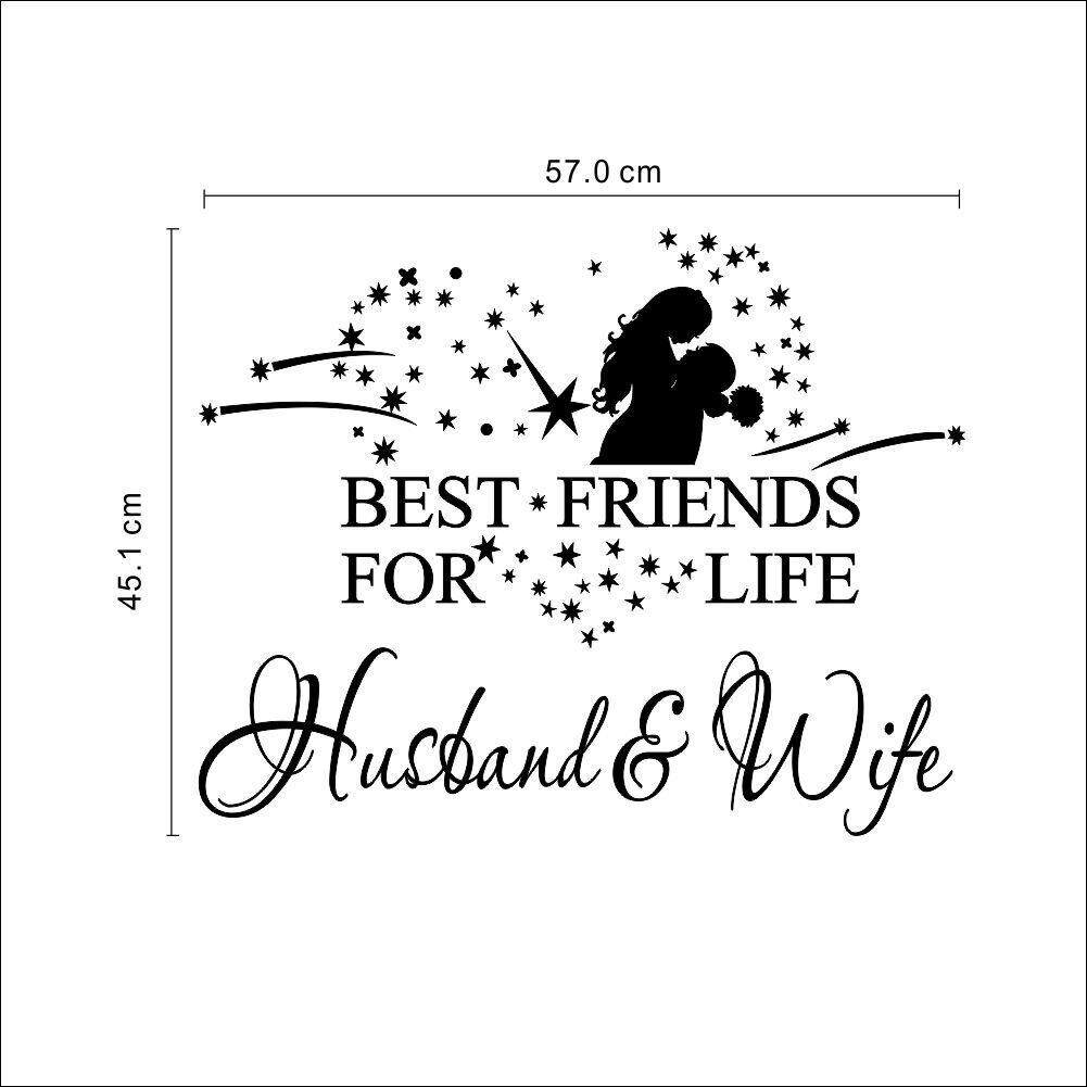 husband and wife best friends for life vinyl wall decal quote