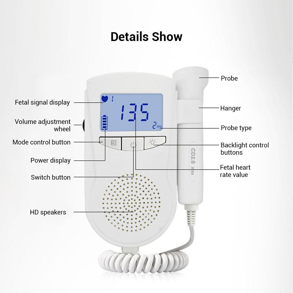 Maternal Supplies Monitor Ultrasound Doppler Fetal Heart Rate Instrument