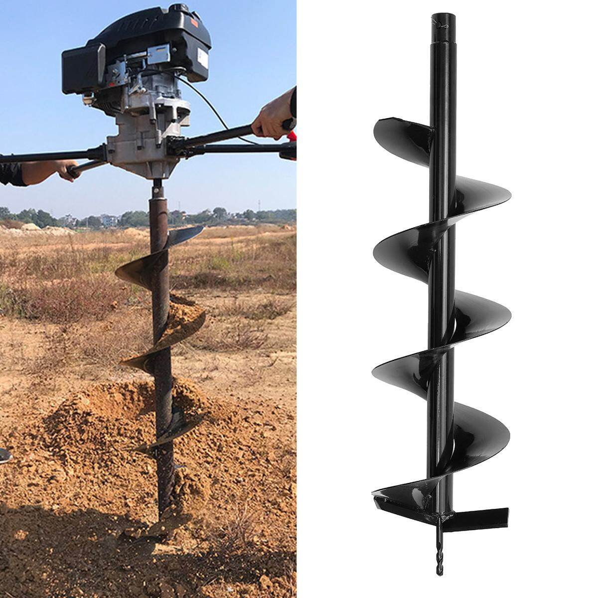 Earth Auger Drill Bit 40//60//80//100 X 800mm Ground Fence Post Hole Drilling Plant