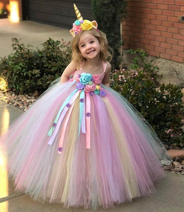 Baby Girls Unicorn Dress Infant Party Dress For Baby Girl Birthday Dress  Kids Christening Dress Newborn Christmas Costume