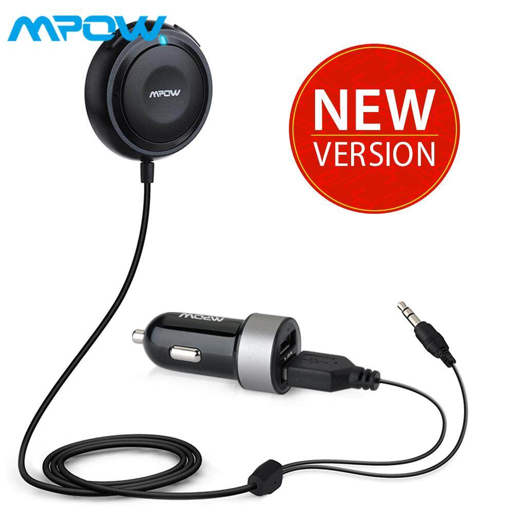 Mpow Bluetooth Car Kits for Hands-Free Calling Bluetooth Receiver/Bluetooth  Aux Adapter 3in1 with Dual USB Car Charger&Ground Loop Noise Isolator for