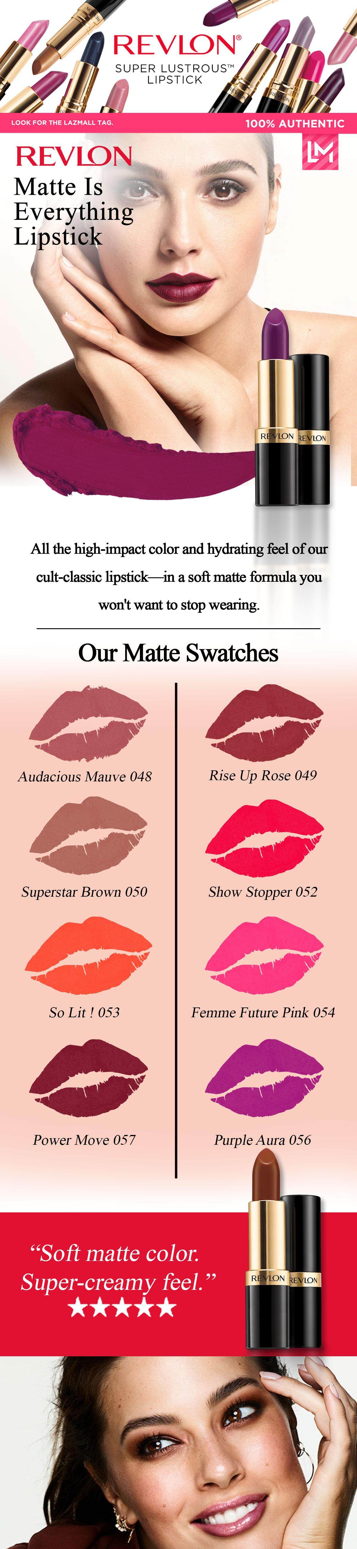 Super Lustrous The Luscious Mattes Lipstick by Revlon #16