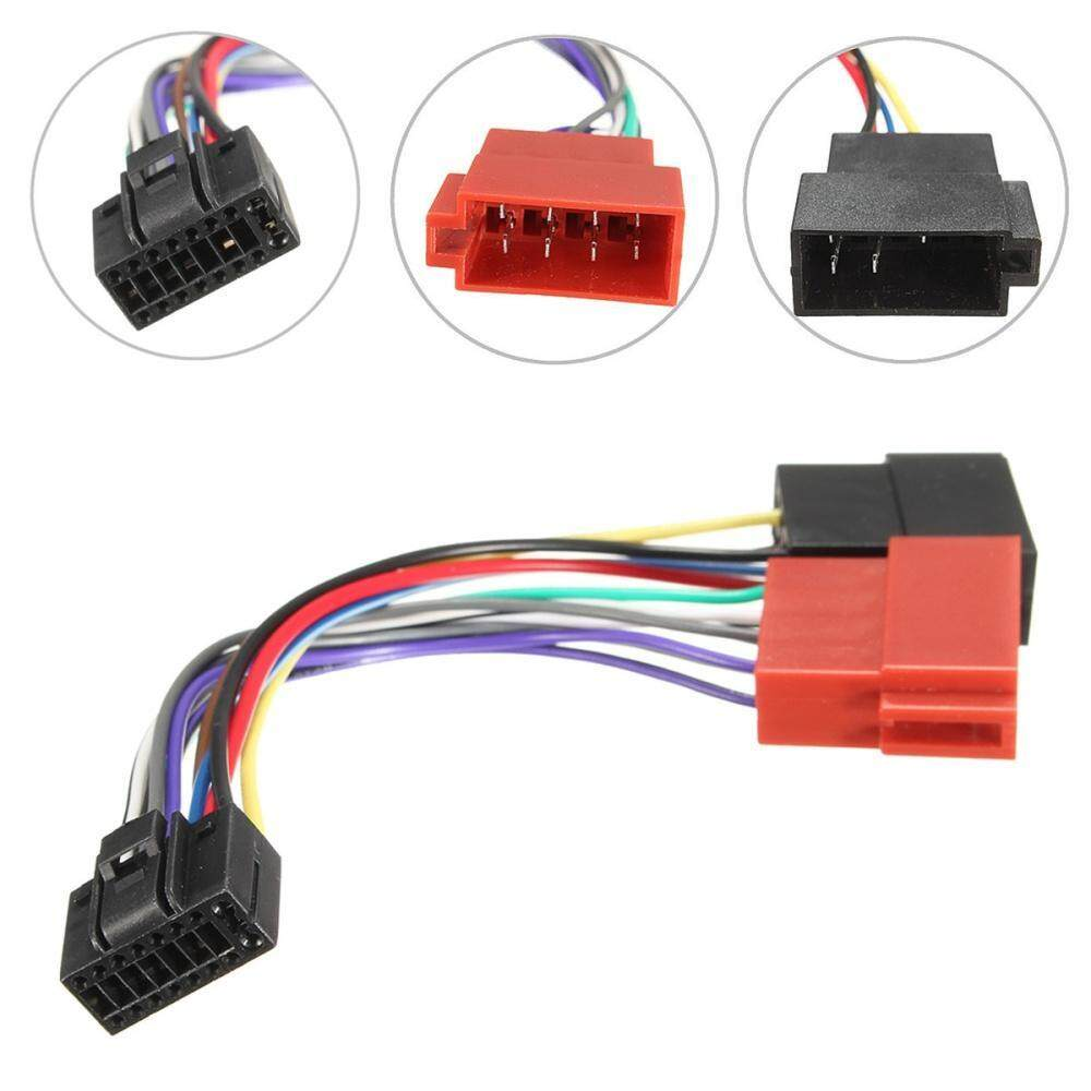 1 x 16-pin car stereo radio iso connector adapter cable