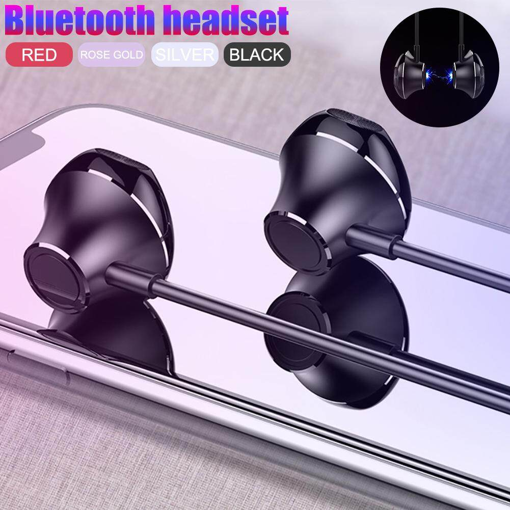 S6 Plus Wireless Bluetooth Neckband Earphone Magnetic Hearphones 5D  Surround Subwoofer Sound Effects Sports Binaural Headset 8 Color