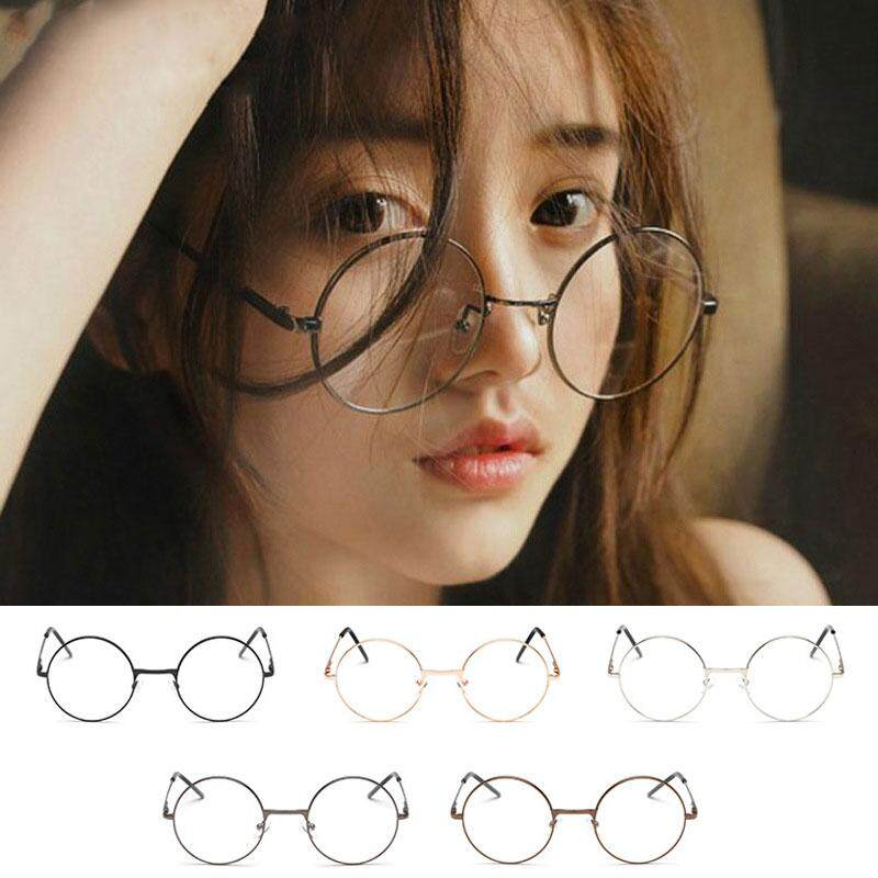 f3398984f7 Product details of Men Large Oversized Metal Frame Clear Lens Round Circle  Eye Glasses Nerd Fashion