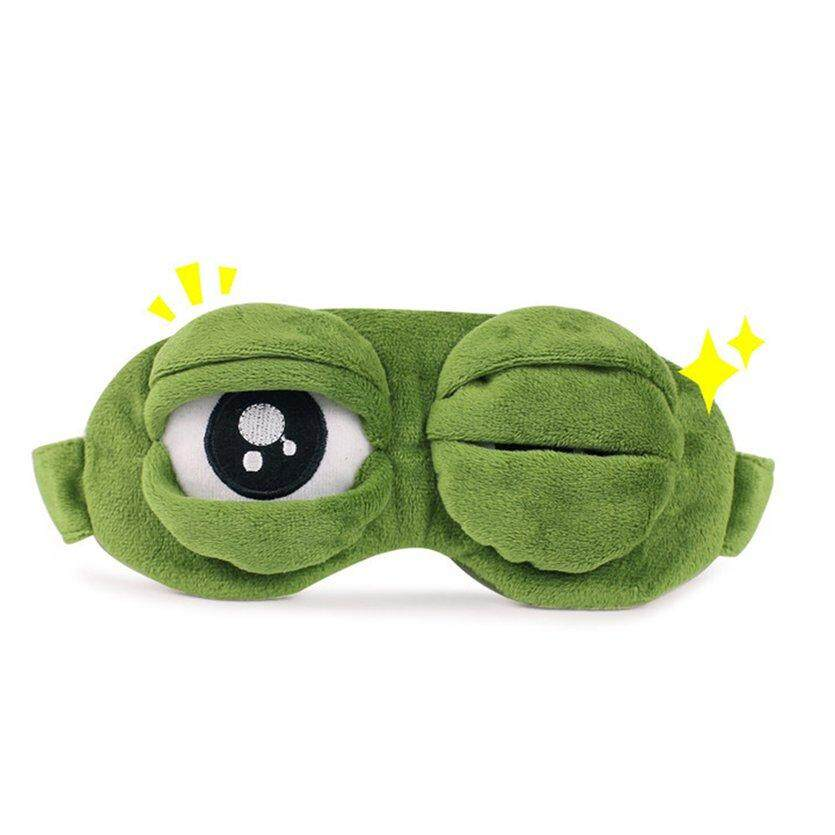 Men's Earmuffs Apparel Accessories Funny Creative Pepe The Frog Sad Frog 3d Eye Mask Cover Cartoon Plush Sleeping Mask Cute Anime Gift