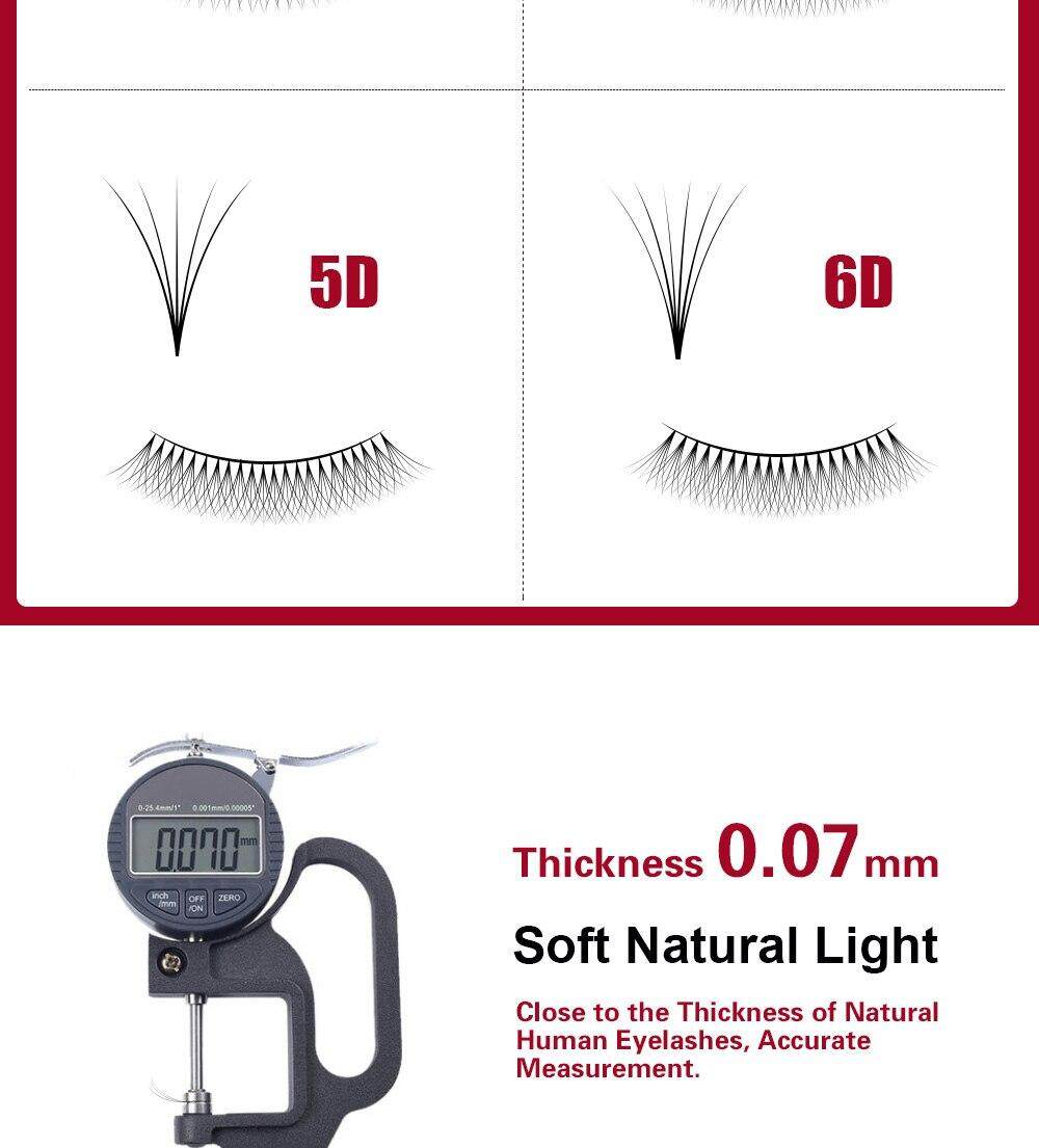NAGARAKU 12 Lines 3D-6D lashes Russian Volume lash Premade fans soft and  natural Lash bunches high quality