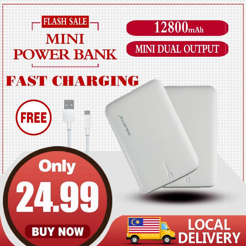 【Free gift】mini 12800MAh Dual usb Power Bank Portable Polymer Fast Charge  Powerbank Battery Strong endurance original for Mobile Phone Local