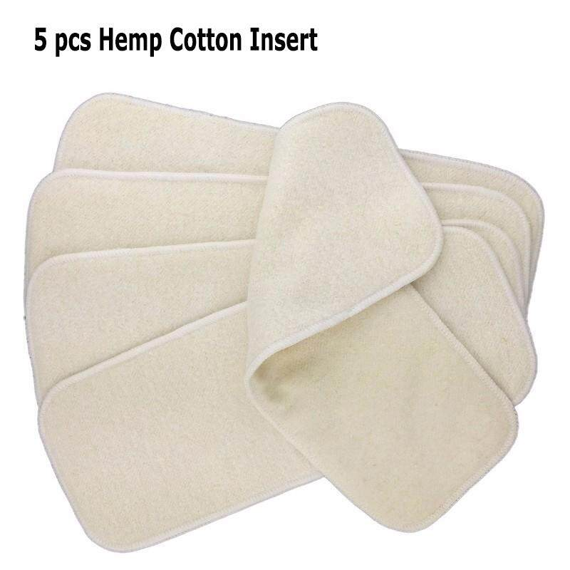 Hemp Organic Cotton Fleece diaper inserts  4 x 12  Fall Colors