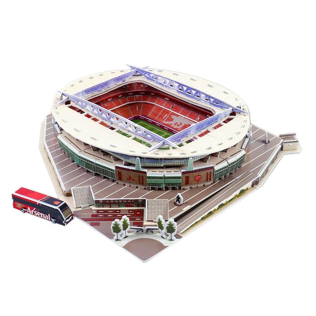 DIY Football Field Model Assembly Benfica Stadium Puzzle Craft Art