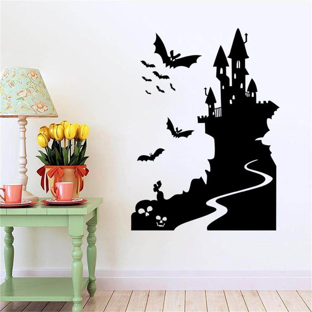 Fashioniestore Wall Stickers Decals Happy Halloween Home Household