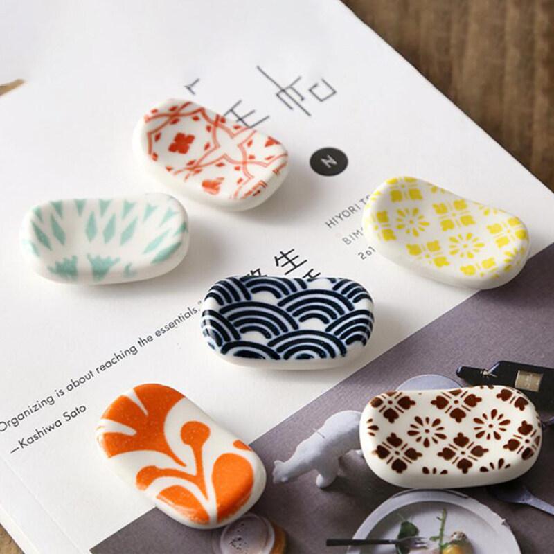 Cute Japanese Ceramic Decorative Chopsticks Holder Rack Spoon Fork Rest