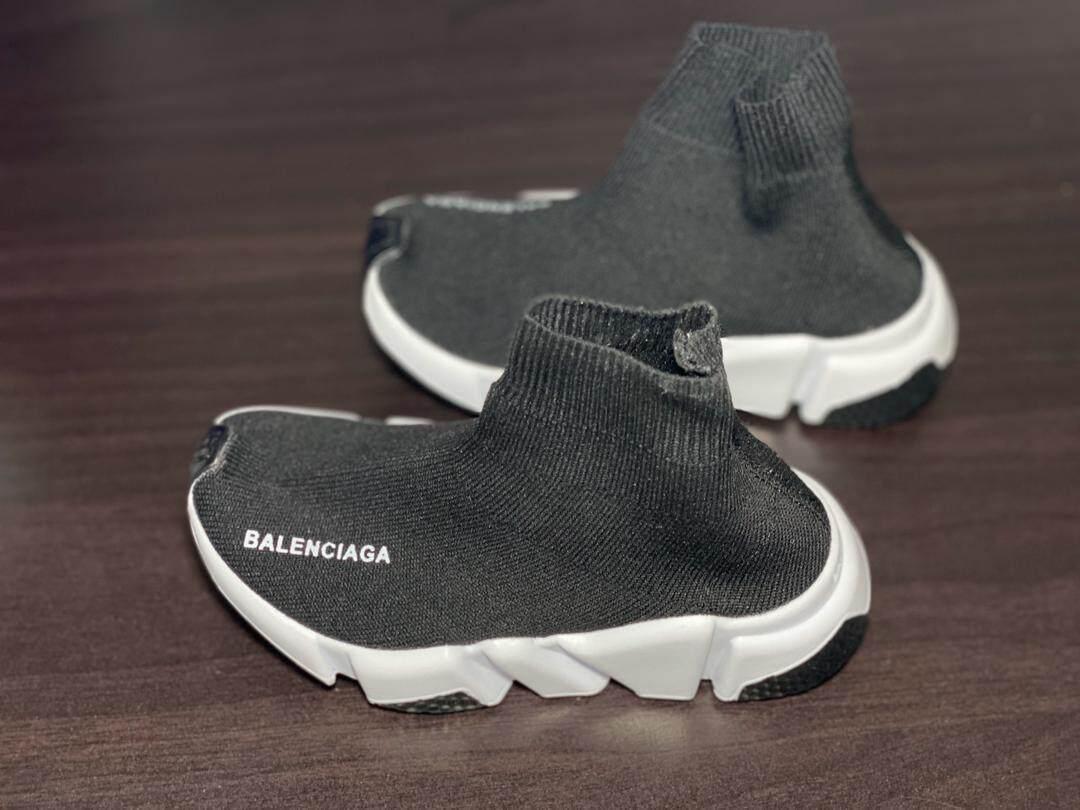 New design Kids boy girl sneakers black