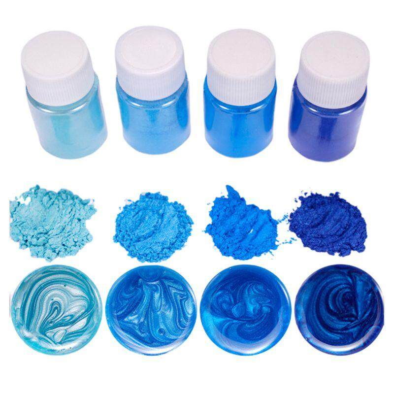 5 Pcs//Set Mixed Color Resin DIY Jewelry Making Craft Glowing Powder Luminous Pigment Set Crystal Epoxy Filling Material