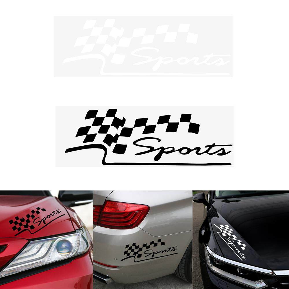 Detail produk dari white motorcycle car decal reflective vinyl funny auto decals racing sports flag sticker car stickers