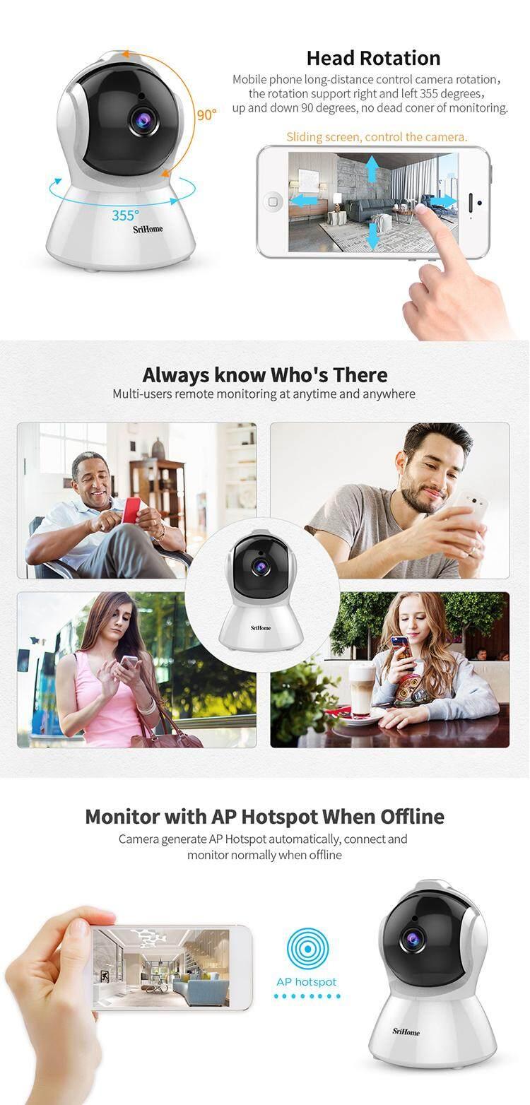 GOQ SriHome SH025 1080P Wifi CCTV IP Security Camera Night Vision (SriHome  App)