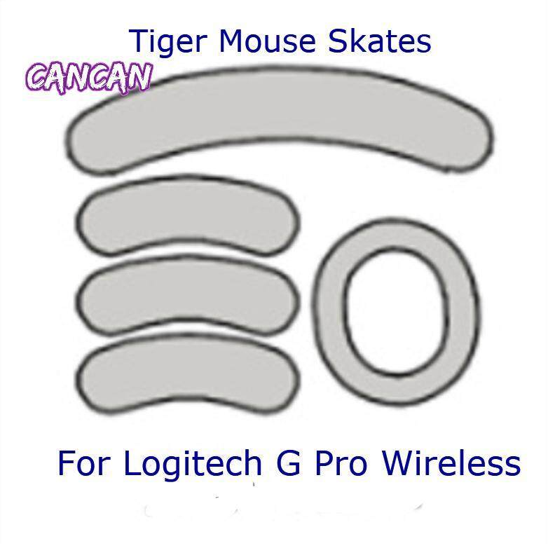 2Sets Tiger Gaming mouse Skates Feet Lo Gitech G Pro Wireless White Teflon  mouse Glides Curve Edge