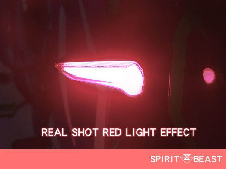WT [Red light] 1 Pair 12V Motorcycle Modified Turn Signals Waterproof Turn  Lights LED Direction Lamp