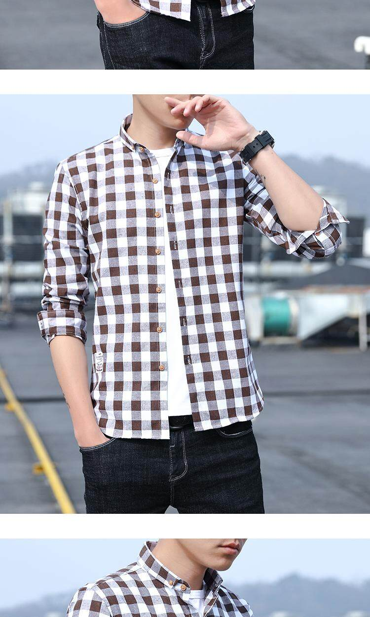 New Mens Casual Plaid Comfort Flannel Long Sleeve Fit Cotton Check Shirt Fashion