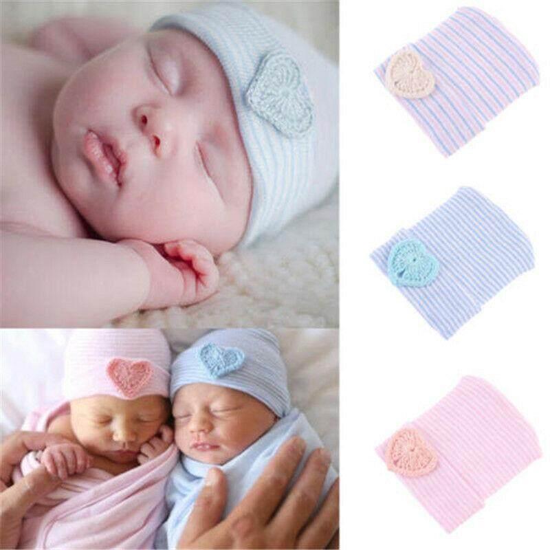 Cute Baby Newborn Girl Infant Toddler Soft Beanie Hospital Cotton Hat Cap Comfy