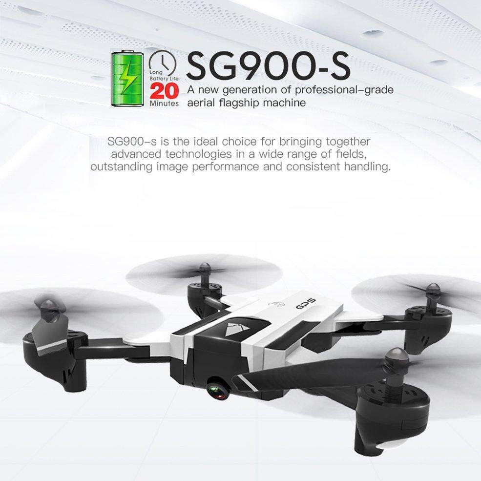 OSMAN SG900-S 2 4G RC Drone Foldable Selfie Smart GPS FPV Q*uadcopter With  720P HD Camera Altitude Hold Follow Me