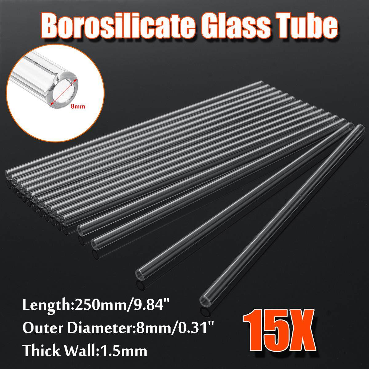 15Pcs 250mm OD 7mm 1 5mm Thick Wall Borosilicate Glass Blowing Tube