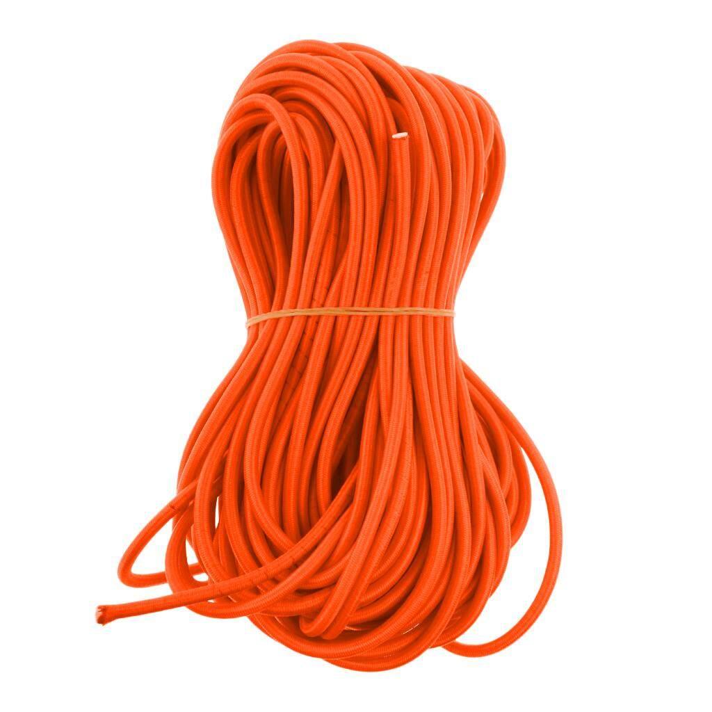 6mm Orange Elastic Bungee Rope Shock Cord Tie Down UV Stable