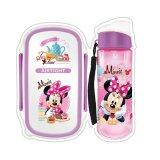 Disney Minnie Lunch Box Bottle Set - Purple Colour