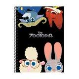 Disney Zootopia A5 100's Hard Cover Notebook -  Bogo, Nick, Judy & Bellwether