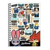 Disney Zootopia A5 100's Hard Cover Notebook - White Colour