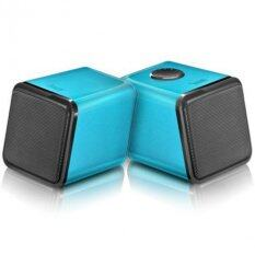 Divoom Iris-02 USB Powered Speaker With Volume Dial Control - Blue Malaysia