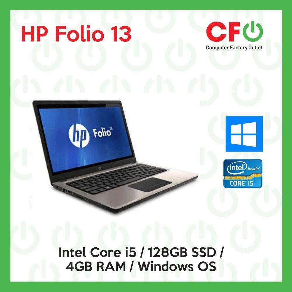 HP Folio 13 / Intel Core i5 / 4GB RAM / 128GB SSD / Windows OS Laptop / 1  Month Warranty (Factory Refurbished)