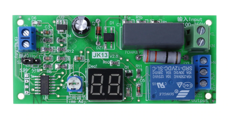 AC220V Delay Timer Switch Turn Off Board 0 Seconds-99 Minutes Delay Relay Module