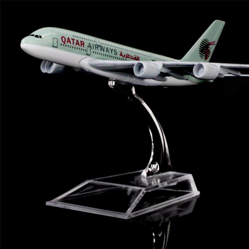 1:400 Scale 16cm Aircraft Model Alloy Diecast Airplane Airbus A380 Qatar  Airways for Gift Collection Home Office Decoration