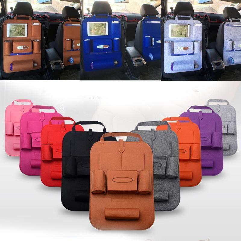 2pcs Woolen Felt Seat Back Kick Protectors For Kids, Auto Car Styling Car  Accessories Camping Cover Felt Multi-Pocket Car Seat Hanging Hanging  Storage