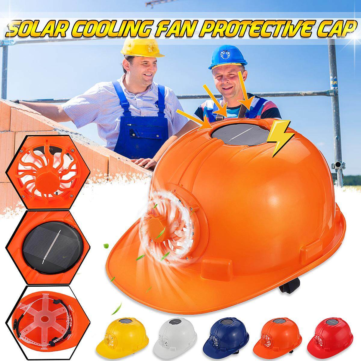 Solar Power With Electric Fan Safety Helmet Construction Hard Hats